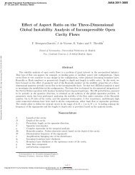 Effect of Aspect Ratio on the Three-Dimensional Global Instability ...