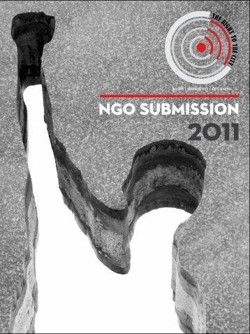 NGO SUBMISSION - Isandla Institute
