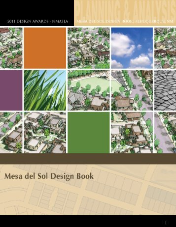 MESA DEL SOL DESIGN BOOK, ALBUQUERQUE, NM