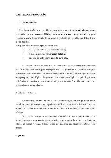 CAPTULO I: INTRODUO - Nova Escola