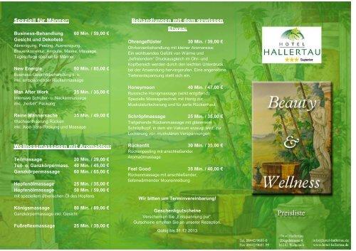 Wellnessangebot zum herunterladen - Hotel Hallertau