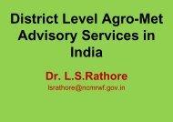 Dr. L.S.Rathore - The World AgroMeteorological Information Service