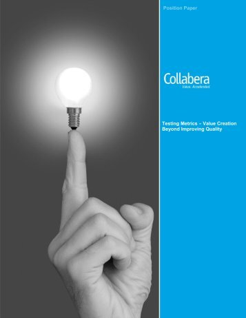 Testing Metrics – Value Creation Beyond Improving ... - Collabera
