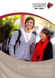 Study Abroad and Exchange - International - Macquarie University