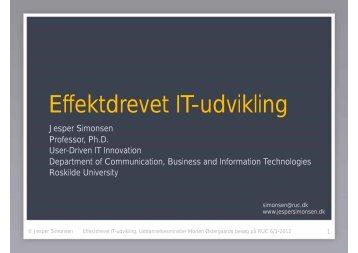 Effektdrevet IT-udvikling
