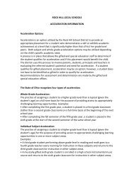 Acceleration Options - Rock Hill Local School System