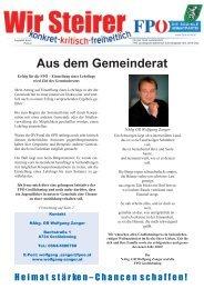 Gemeindekurier Ausgabe 1 - FPÖ Steiermark