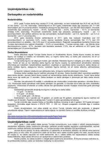 Uzņēmējdarbības vide Darbaspēks un nodarbinātība ... - LIAA