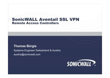 Sonicwall Aventail SSL VPN
