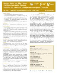 Cervical Cancer and Other Human Papillomavirus-related Diseases ...