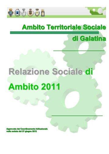 Galatina Relazione sociale - Centro Servizi Volontariato Salento