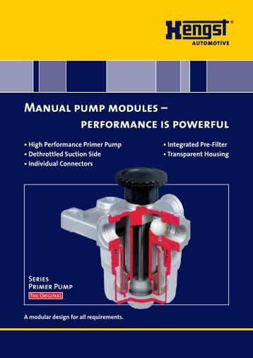 Manual pump modules - Hengst GmbH & Co. KG