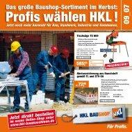 Profis wählen HKL ! - HKL Baushop