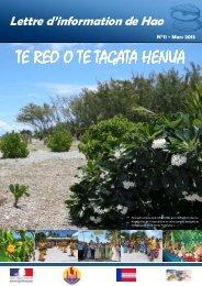 Te Reo n°11 - Haut-Commissariat de la république en Polynésie ...