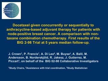 First results of BIG 2-98 trial - IBCSG