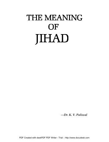 The Meaning of Jihad
