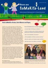 Kindergartenzeitung Februar 2011 - Neues aus Samakita-Land