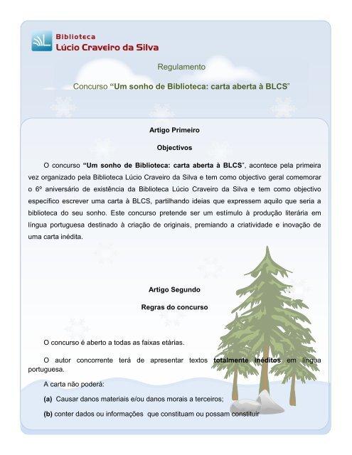Um sonho de Biblioteca: carta aberta à BLCS