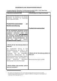 Produktinformationsblatt zur Rentenversicherung ...