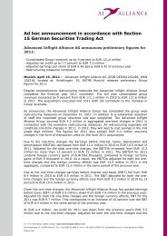 Ad hoc announcement in accordance with Section 15 German ...