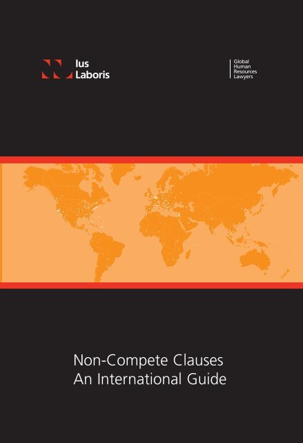 Non-Compete Clauses An International Guide - Ius Laboris
