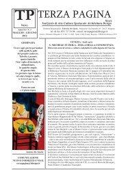 Articolo su Terza Pagina - Artespressione