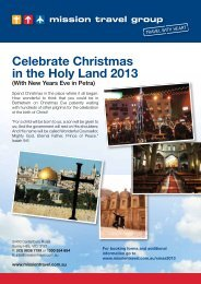 (& NEW YEARS EVE IN PETRA) 22 December - Mission Travel