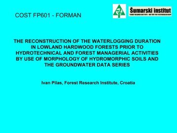 COST FP601 - FORMAN - Forest Management and the Water Cycle ...