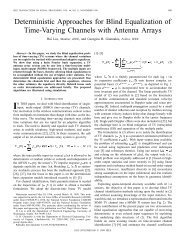 Deterministic Approaches For Blind Equalization Of Time-varying ...