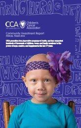 Download FY 2012 Annual Report - Children's Cancer Association