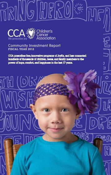 Download FY 2012 Annual Report - Children's Cancer Association