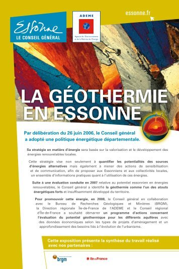 LA GÉOTHERMIE EN ESSONNE - Ademe Ile de France