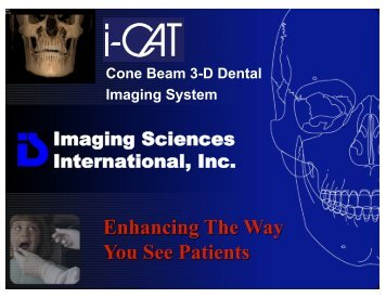 Imaging Sciences International, Inc. - De Vos Endo BV