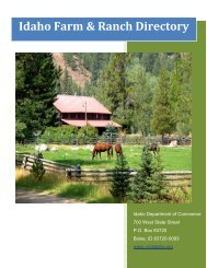 Idaho Farm & Ranch Directory - Idaho Department of Agriculture