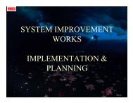 system improvement works implementation & planning - WESCO