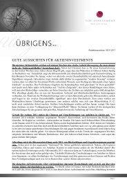 Newsletter vom 08. Januar 2011 - TOP-Investment GmbH