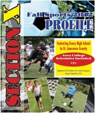 X Fall Sports 2012 - Watertown Daily Times