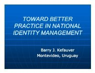 toward better practice in national identity management - ICAO