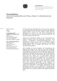 Zweites Netzwerktreffen zum Thema Wasser in der ... - Frank Heinrich