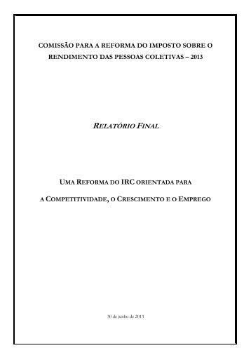 RELATÓRIO FINAL - Ordem dos Técnicos Oficiais de Contas