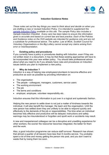 duction guidance notes - Supporting Voluntary Action - Scottish ...