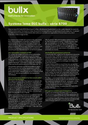 d'informations sur la lame bullx DLC B715