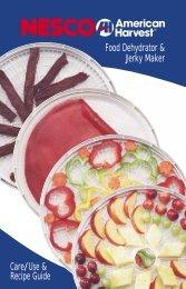 Food Dehydrator & Jerky Maker Care/Use & Recipe ... - Hayneedle