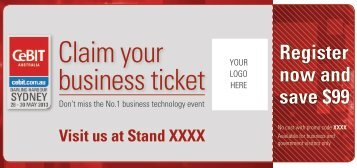 Claim your business ticket