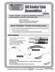 Dorman® OE Solutions™ Oil Cooler Line ... - Dorman Products