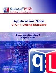 QL C/C++ Coding Standard - Quantum Leaps