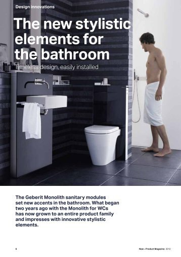 washbasins and bidets - Geberit AG - Annual Report 2012