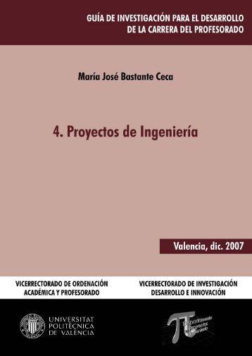 4. Proyectos de Ingeniería - Universidad Politécnica de Valencia