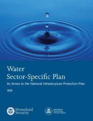 Water Sector-Specific Plan 2010 - Homeland Security
