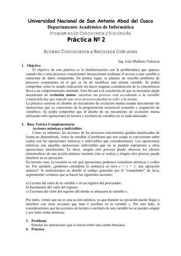 Práctica Nº 2 - Ingeniería Informática y de Sistemas - Universidad ...